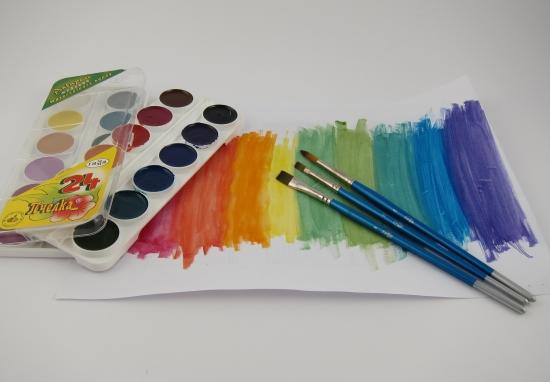 рисование знакомство с красками