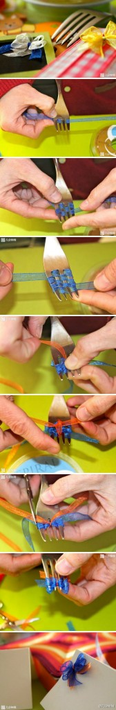 как сделать бантик для открытки