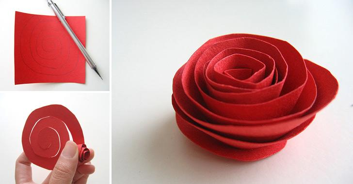 роза из бумаги своими руками (3)
