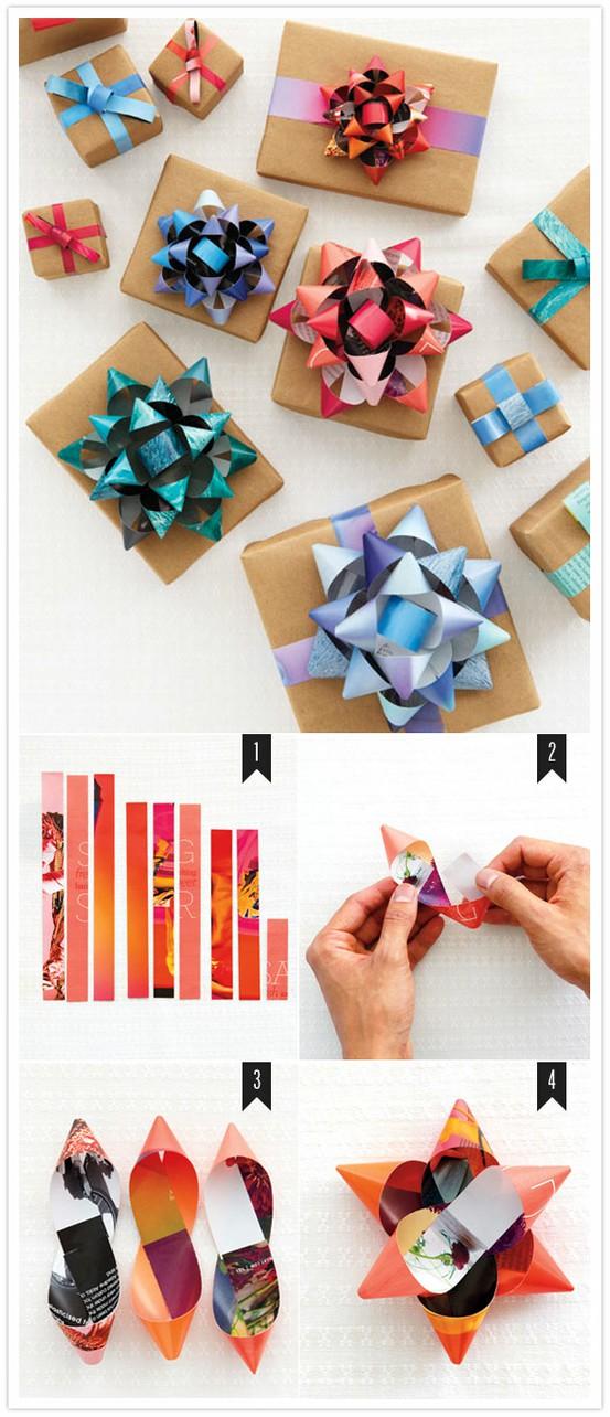 цветы из бумаги упаковка подарков своими руками 1