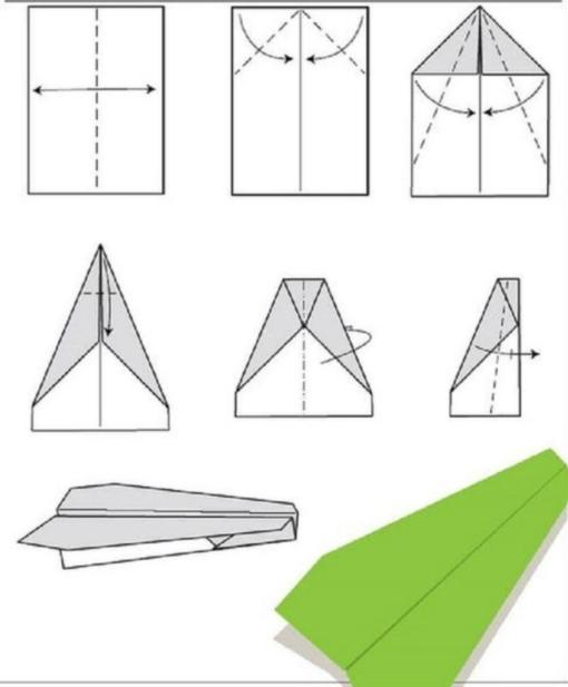 Самолет оригами схема 2 (1)