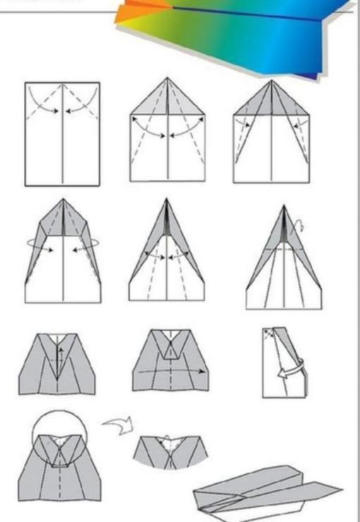 Самолет оригами схема 2 (2)