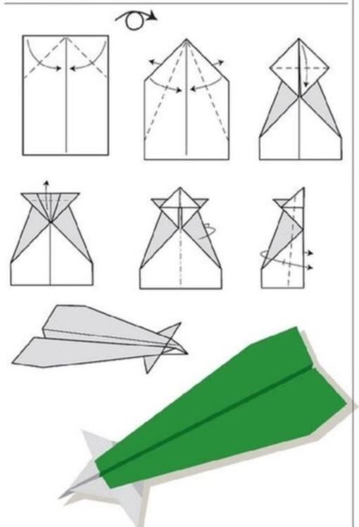 Самолет оригами схема 2 (4)