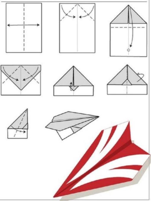 Самолет оригами схема 2 (5)