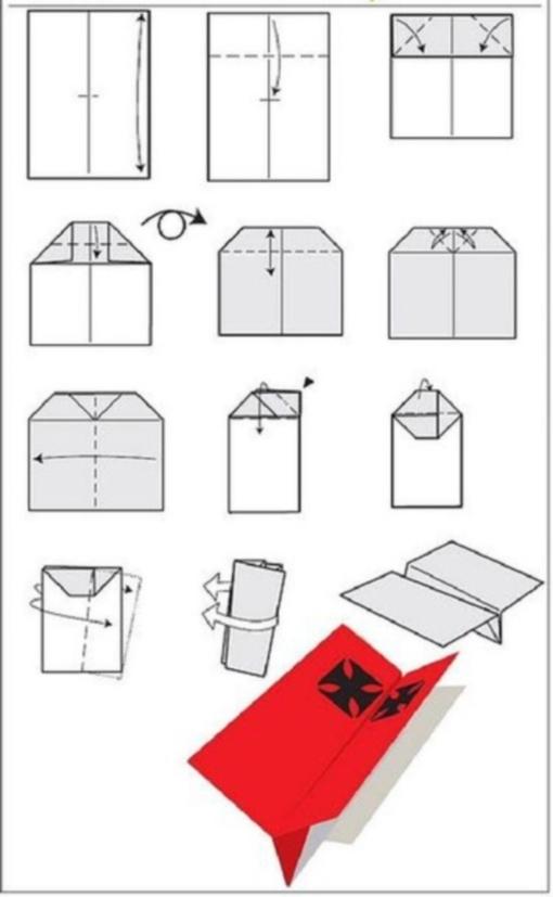 Самолетик оригами схема 1 (1)