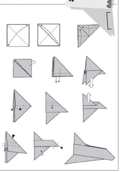 Самолетик оригами схема 1 (4)
