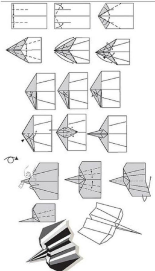 Самолетик оригами схема 1 (5)