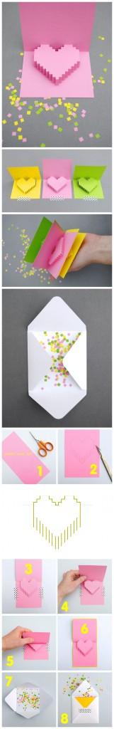 Киригами открытка сердце (2)