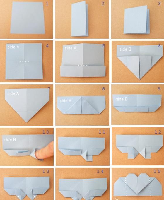 Оригами  сердце закладка для книги своими руками (1)