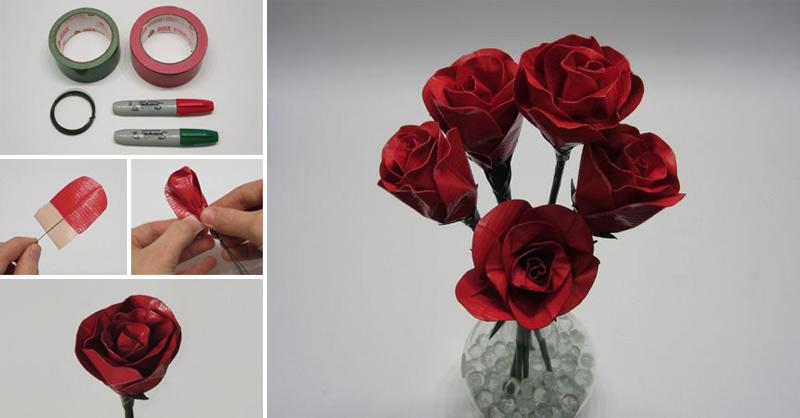 как сделать розы из изоленты