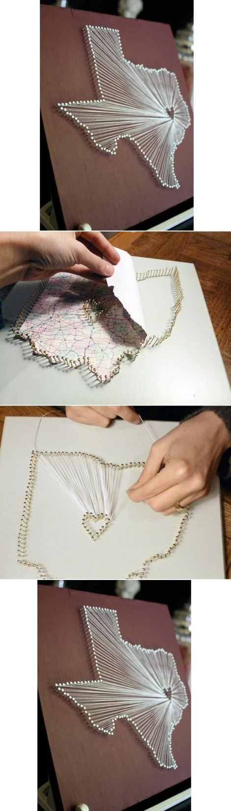 картины из ниток на гвоздях