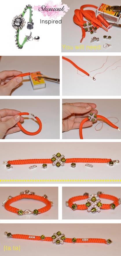 Браслеты из шнура схемы (1)