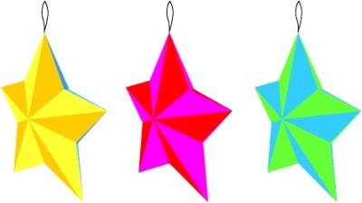 Киригами звезда из бумаги (1)