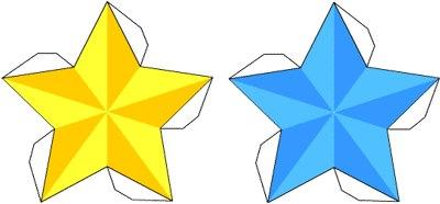 Киригами объемная звезда из бумаги (3)