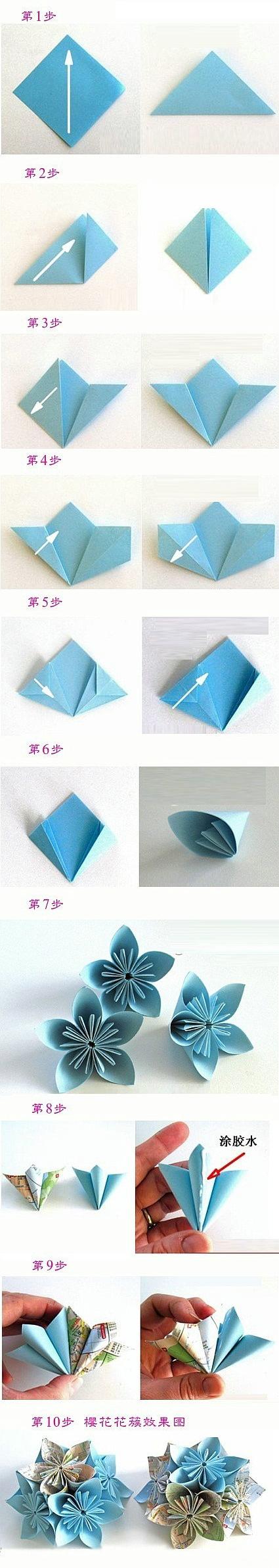 Модульное оригами цветы схемы (5)