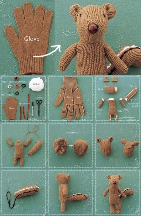 Мягкие игрушки своими руками медведь из рукавицы