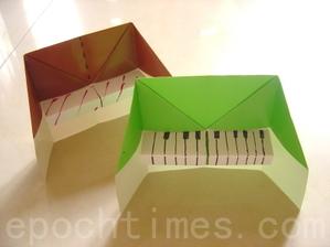 Оригами из бумаги поэтапно пианино (2)