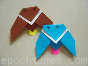 ПРОСТЫЕ ОРИГАМИ птица схема (2)