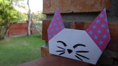 ПРОСТЫЕ ОРИГАМИ схема кота (2)