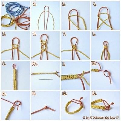 Плетение из шнура схемы 2