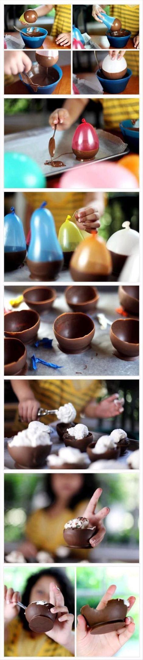 Шоколадные тарелки своими руками