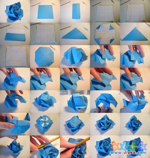 Схемы оригами из бумаги цветы роза