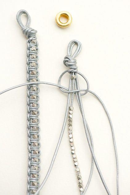 Схемы браслета из шнура