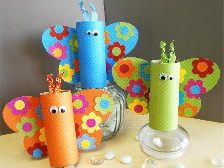 Игрушки из туалетных рулонов (4)