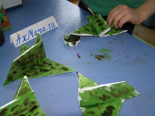 Самолет оригами схема