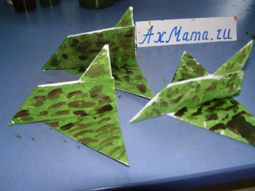 Оригами: самолет к 23 февраля пошагово