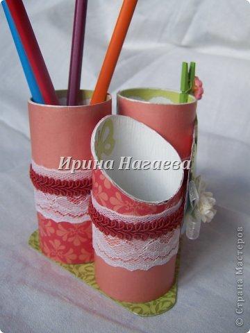 Подставка для карандашей из туалетных рулонов (1)