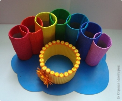 Подставка для карандашей из туалетных рулонов (7)