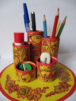 Подставка для карандашей из туалетных рулонов (8)