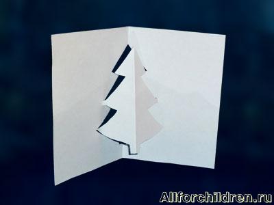 Киригами объемные открытки к Новому году (11)