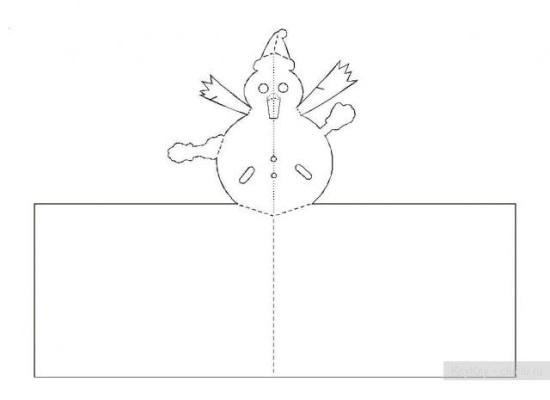 Киригами объемные открытки к Новому году (7)