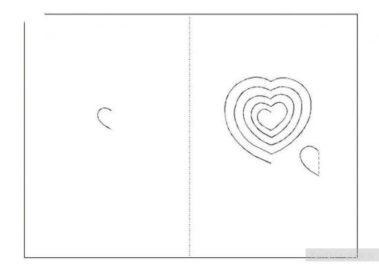 Киригами объемные открытки с сердцем (1)