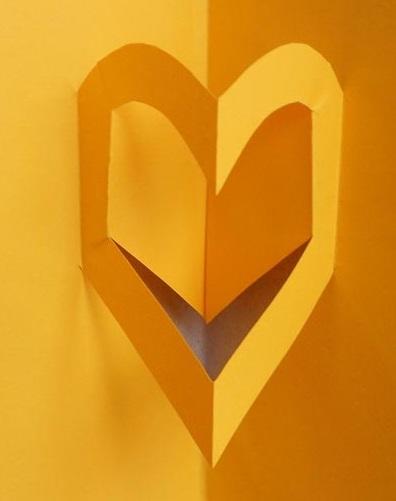 Киригами объемные открытки с сердцем  (10)