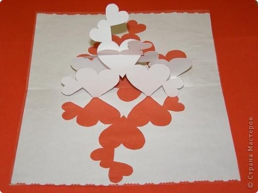 Киригами объемные открытки с сердцем (12)
