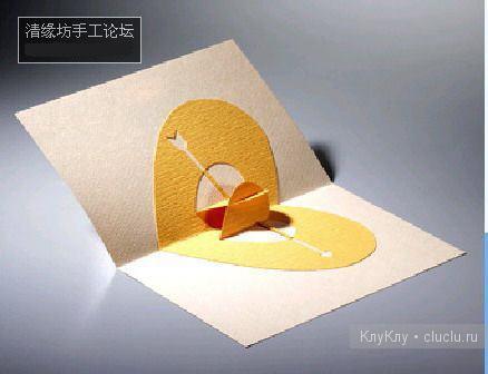 Киригами объемные открытки с сердцем (3)