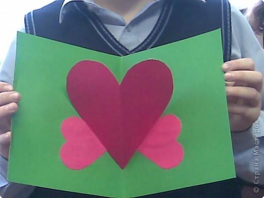 Киригами объемные открытки с сердцем (4)