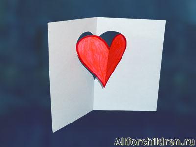 Киригами объемные открытки с сердцем (8)