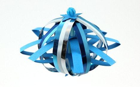 Бумажный шар из полосок