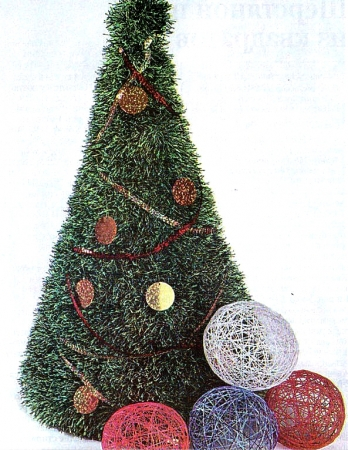 Новогодние объемные игрушки своими руками на елку