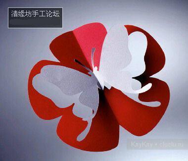 Простые киригами из бумаги схемы (1)