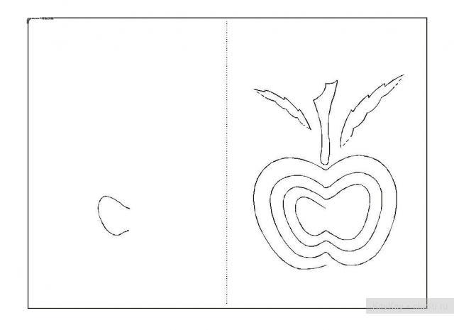 Простые киригами из бумаги схемы (15)