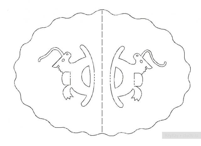 Простые киригами из бумаги схемы (2)