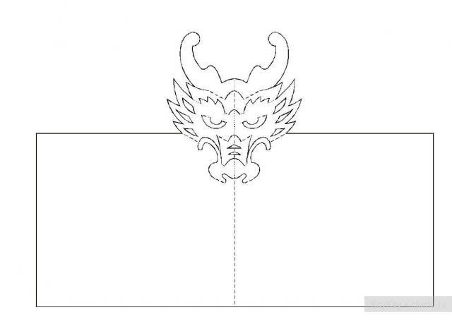 Простые киригами из бумаги схемы (22)