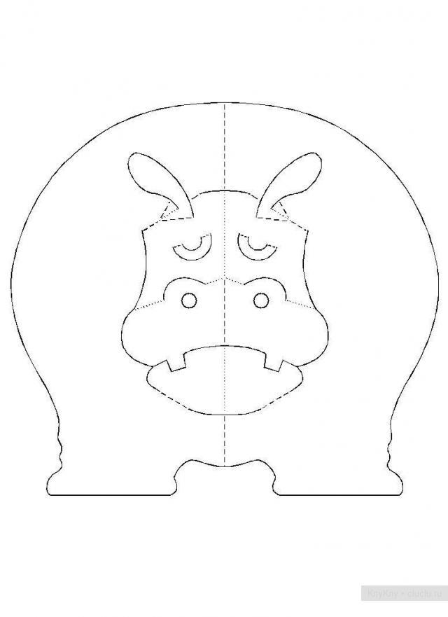 Простые киригами из бумаги схемы (23)