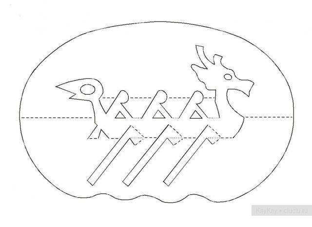 Простые киригами из бумаги схемы (27)
