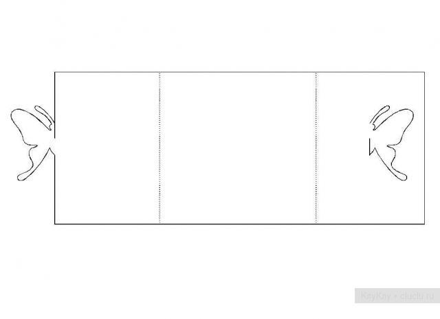 Простые киригами из бумаги схемы (3)